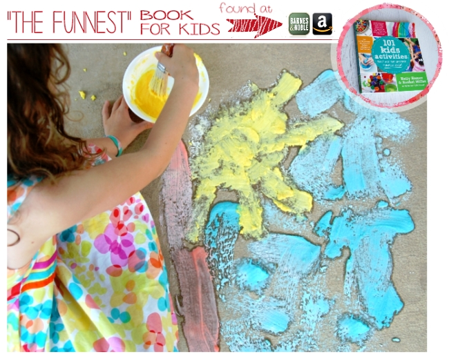 EASY fizzing sidewalk chalk! My kids will be amazed!
