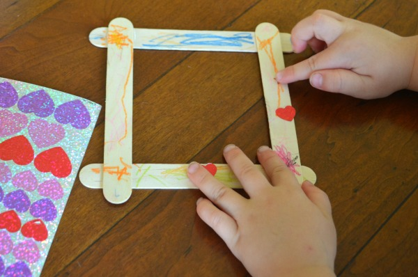 Craft Stick Picture Frames - EASY toddler craft!