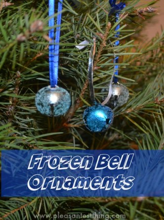 Polar Express Craft - a frozen bell ornament!