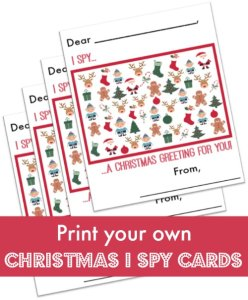 Christmas I Spy Cards