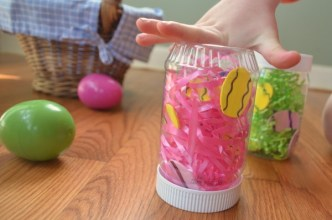 Make an Easter Egg Sensory bottle! Easy and adorable!