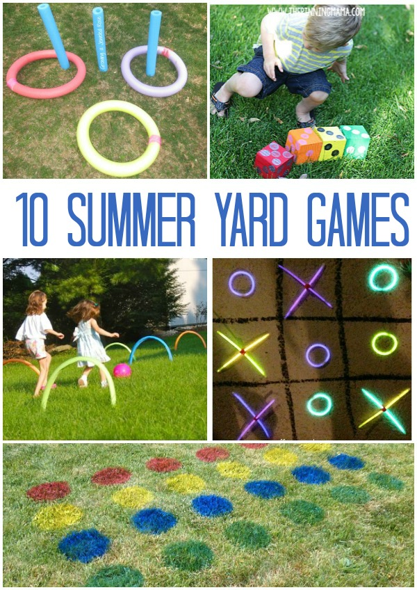 Backyard games for the summer! 10 games to get your family laughing, running, and having fun this summer!