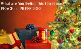 What are you feeling this Christmas…Peace or Pressure?