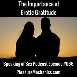 The Importance of Erotic Gratitude