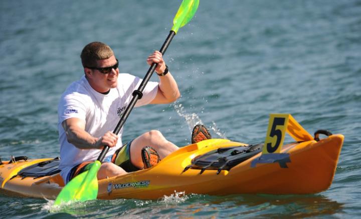 man kayak