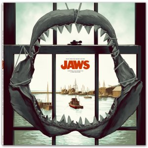 JAWS vinyl soundtrack cover art by Phantom City Creative