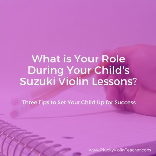 How can you best help your child during their Suzuki violin lessons?