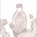 Illustation par Katou inspirée par l'oeuvre courte Une histoire de shampoing