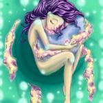 Illustration par Céline Drouyneau inspirée par l'oeuvre courte douce Mon trésor http://lunatic.ultra-book.com/
