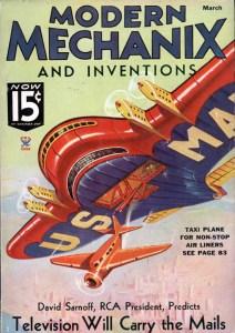 La copertina di Modern Mechanix del marzo 1935