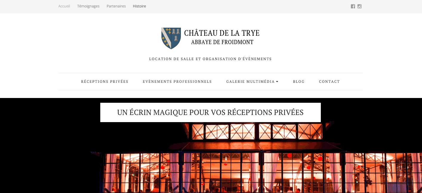 Création de site : Chateau de la Trye