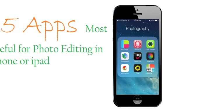 most useful photo editing apps for iphone or ipad