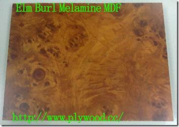 Elm Burl Melamine MDF