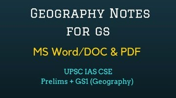 Geography Notes PDF – MS Word for UPSC IAS