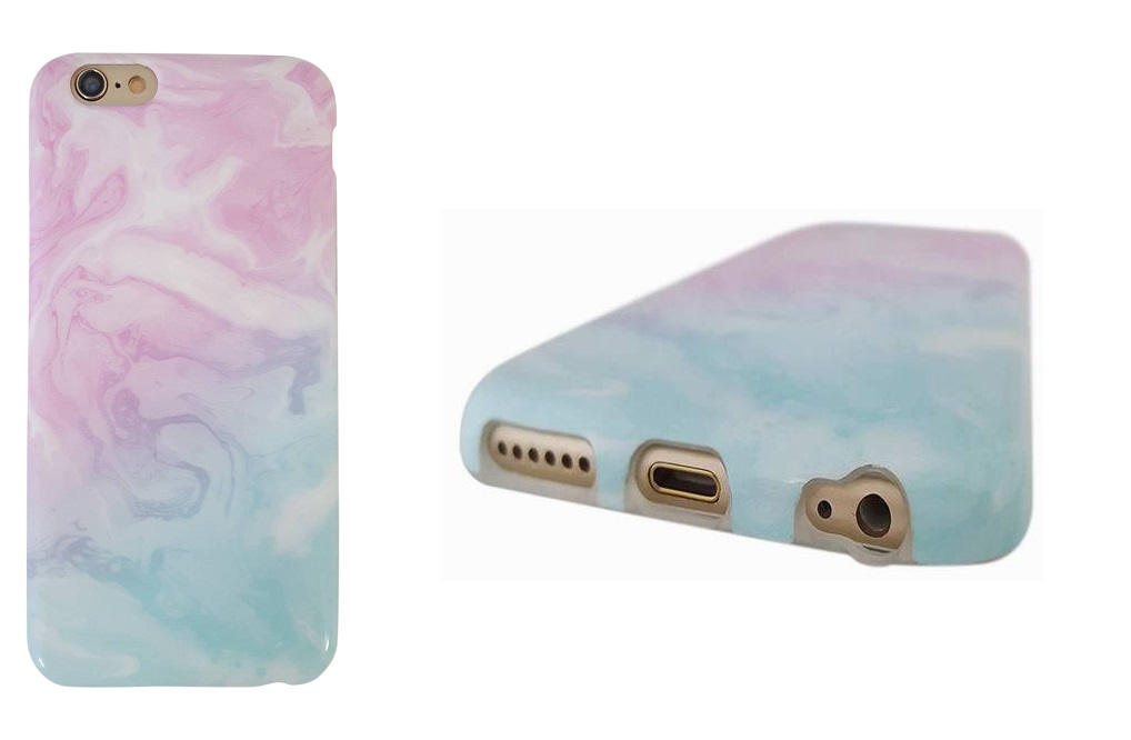 Stylish Hippos Cotton Candy Marble iPhone 6 Cases