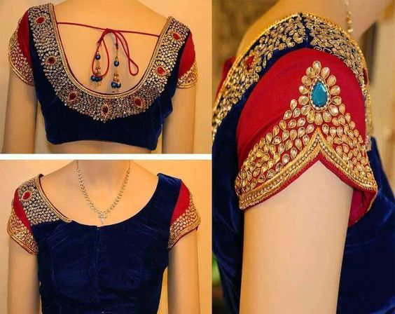 Superb Blouse designs from Kanjivaram Silks