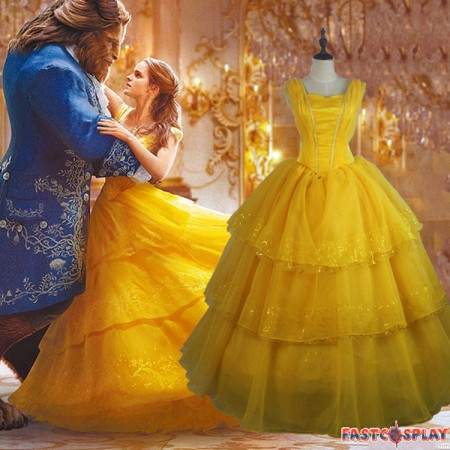 I Love This Beauty and The Beast Belle Yellow Cosplay Dress