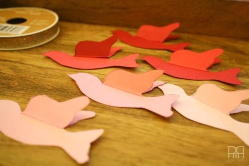 DIY glitter bird garland 3