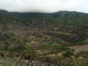 The mine site needs repatriation - there are frequent landslides caused by the giant pit