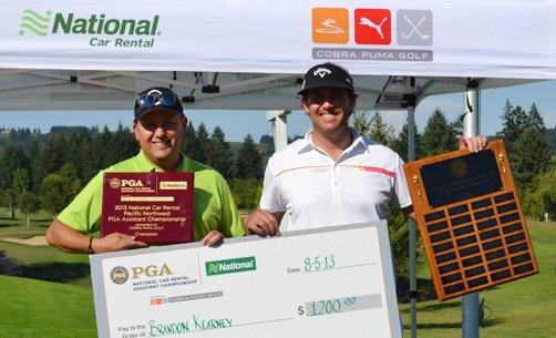 Sponsor Steve Fowell (left) and Champion Brandon Kearney.