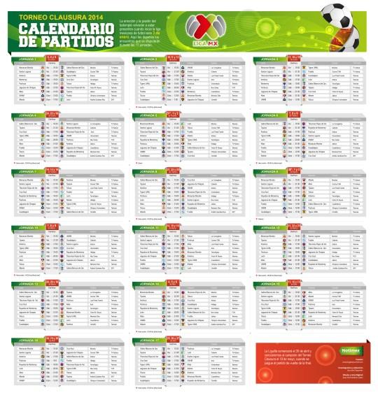 ... MEXICANO M201XICO Torneo Clausura .Calendario De Futbol Mexicano 2015