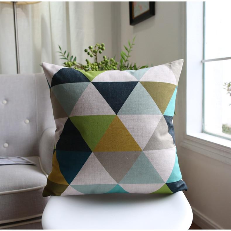 Poduszka dekoracyjna w geometrzyczne wzory 45x45 na krzesło