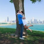 Lake Michigan Engagement by Poe Photography