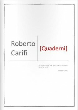 roberto carifi - quaderni