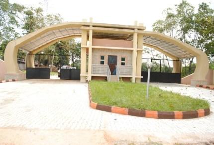 Gate to  GO Uni Campus, permanent site, Ugwuomu-Nike