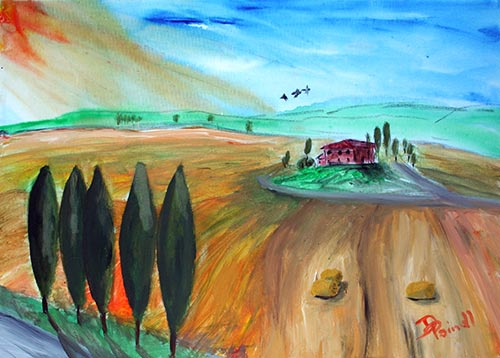 Toskana – Über den Feldern