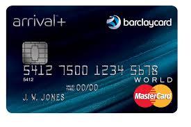 Barclay arrival card
