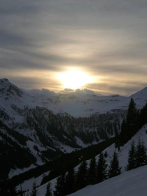 saalbach hinterglemm austria sunset