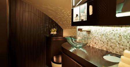 etihad first class a380 apartment shower bathroom