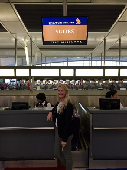 Singapore Airlines Suites Class Check in JFK
