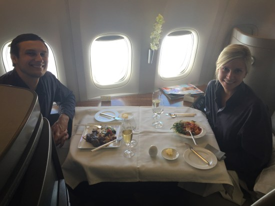caflight review cathay pacific first class review flight hkg lax krug caviar