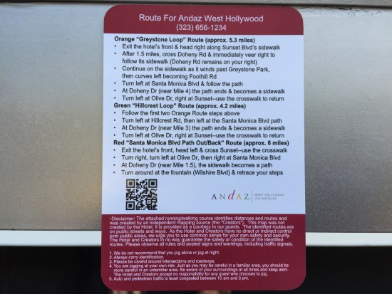 hotel review hyatt andaz west hollywood los angeles sunset suite riot house running path card
