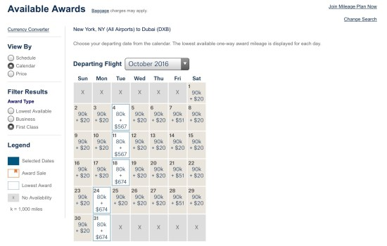 emirates award availability alaska miles
