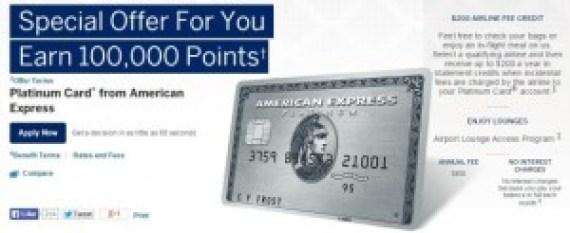 Act Fast: Amex Platinum 100k Signup Bonus!