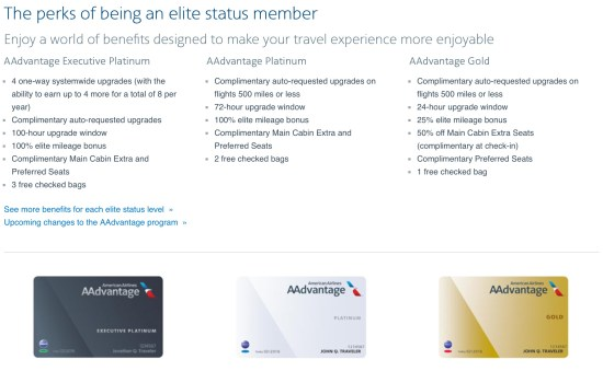 american ailrines aa credit card spend elite status