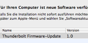 Thunderbolt Firmware-Update 1.0
