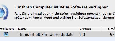 Thunderbolt Firmware-Update 1.0