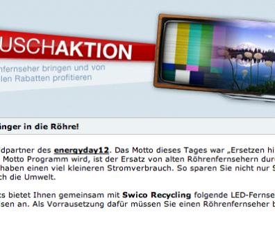 Ihr habt noch einen Röhren-Fernseher? Umtausch Aktion bei Brack.ch