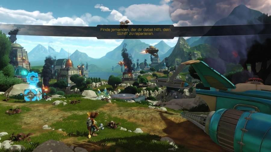 Ratchet & Clank - Bild 3 - Beginn eines neuen Levels - Zuerst mal die Aussicht geniessen