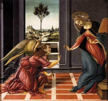 Cestello Annunciation (After Botticelli), Polari Bible