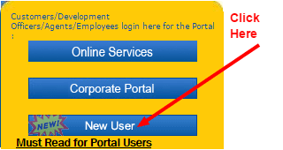 LIC policy status new user home page image