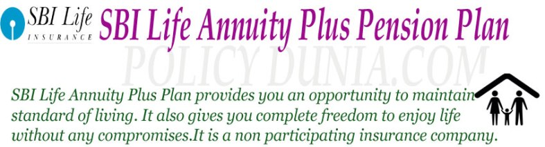 SBI Life Annuity Plus Pension Plan Image