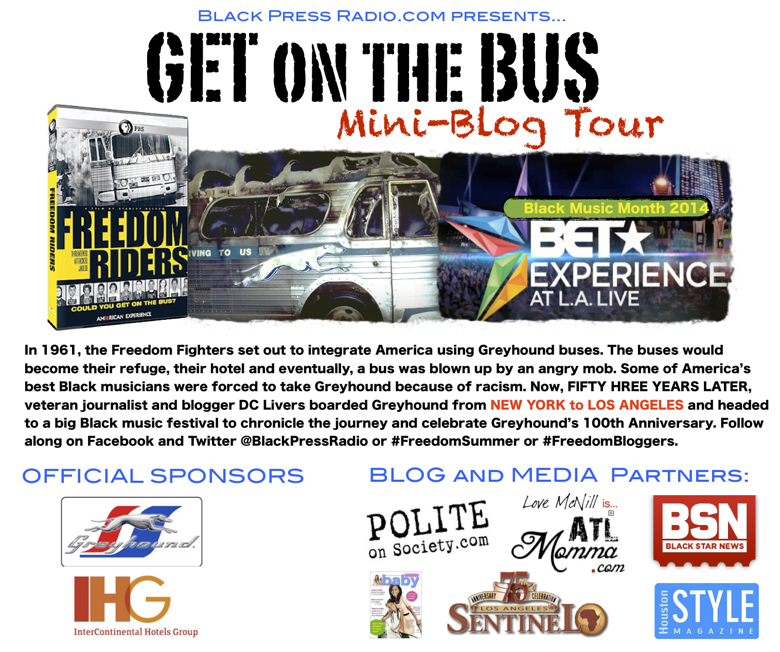 Get On The Bus Tour Flyer
