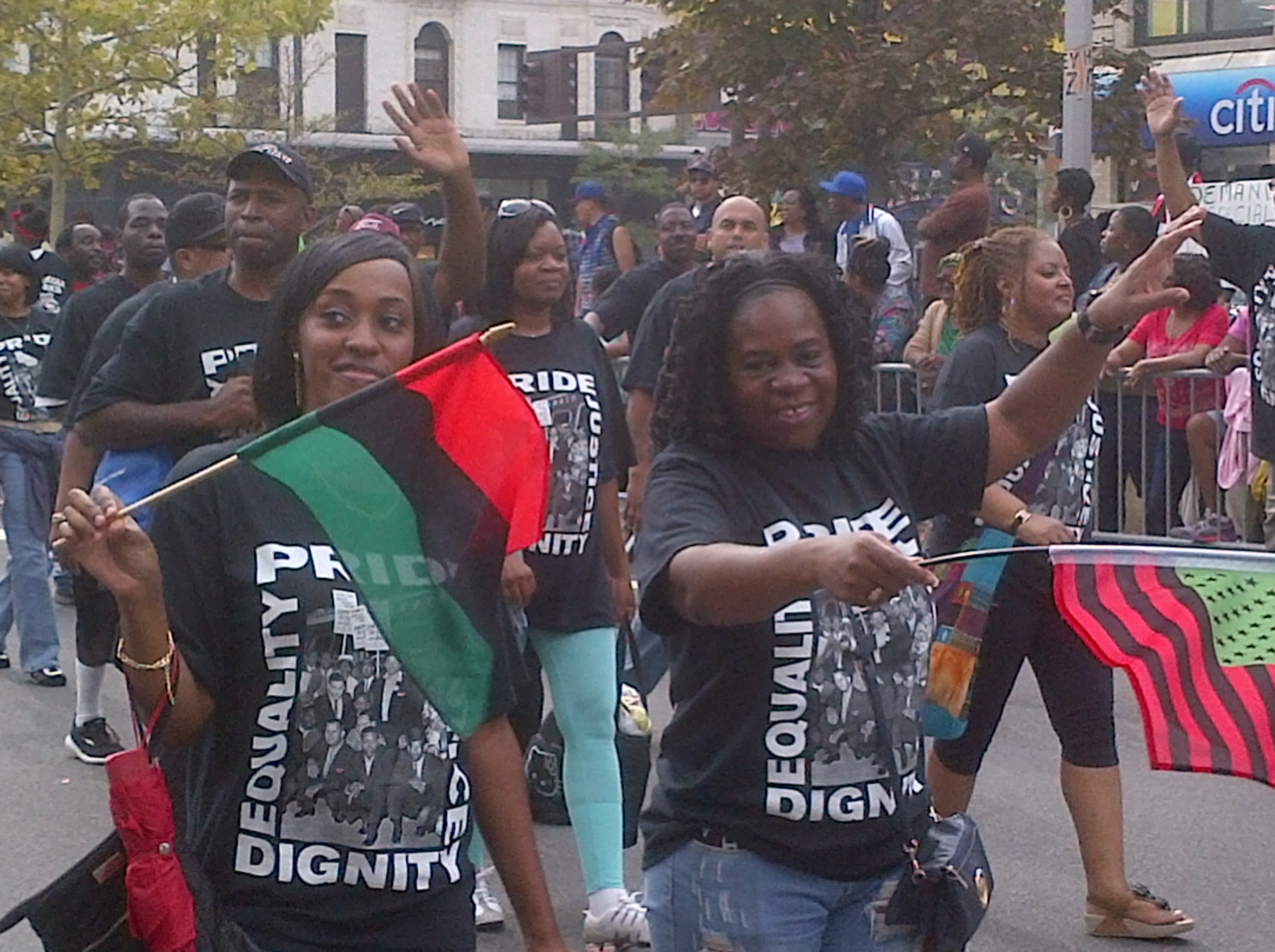 Revelers at the African American Day Parade 2014