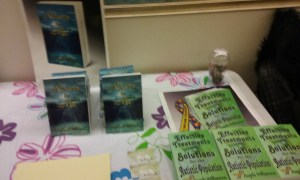 Author Angela Williamson sells her books at NBWC 2016