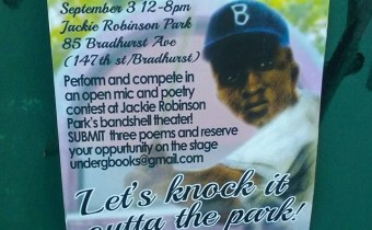 Jackie Robinson Poetry Day Saturday, September 3rd!